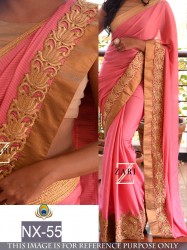 LIGHT PINK PURE FABRIC SAREE