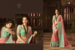 PINK GEORGETTE / SATIN SAREE