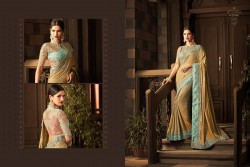 BROWN GEORGETTE / SATIN SAREE