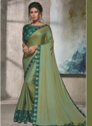 Green Dual Tone Silk Saree