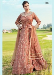 Brown Soft Taffeta Silk Readymade Gown