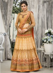 Multicolor Heritage Banarasi Silk Digital Printed Lehenga Choli