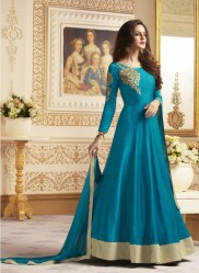 Sky Blue Banglori  Ankle-Length Readymade Suits