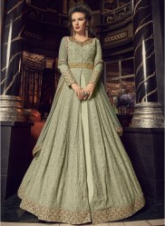 Light Green Georgette Anarkali Suit