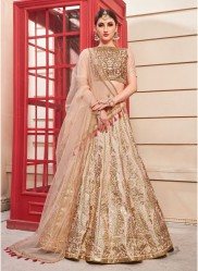 Chikoo Colour Thai Silk Bridal Lehenga Choli