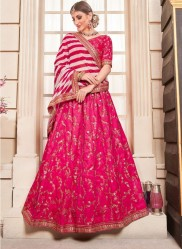 Magenta Phantom Silk Bridal Lehenga Choli