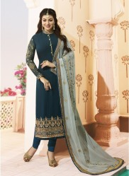 Sea Green Georgette Salwar Kameez