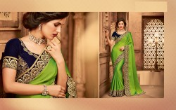 Green Silk Base Embroidery Saree