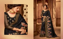 Black Silk Base Embroidery Saree