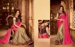 Pink Silk Base Embroidery Saree