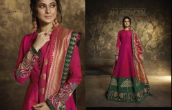 Pink Two Tone Silk Ankle-Length Readymade Suit