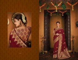 Maroon Cotton Silk Saree