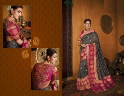 Gray Cotton Silk Saree