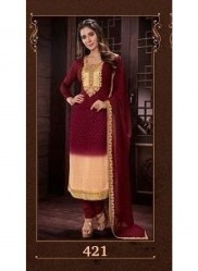 Brown Georgette Salwar Suit
