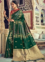 Deep Sea Green Banarasi Silk Saree