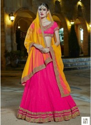Pink Soft Net Light Embroidery Lehenga Choli