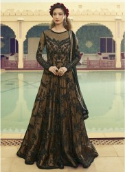 Black Net Anarkalis Salwar Suit