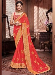 Rose Red Paithani Silk Saree