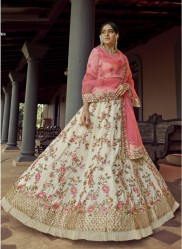Light Yellow Georgette Wedding Lehenga