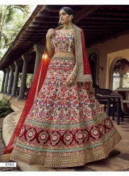 Multicolor Georgette Wedding Lehenga